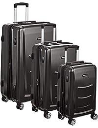 3 Piece Hard Shell Luggage Spinner Suitcase Set - Slate Grey
