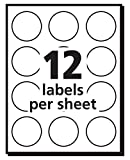 Avery Self-Adhesive Removable Labels, 1-Inch