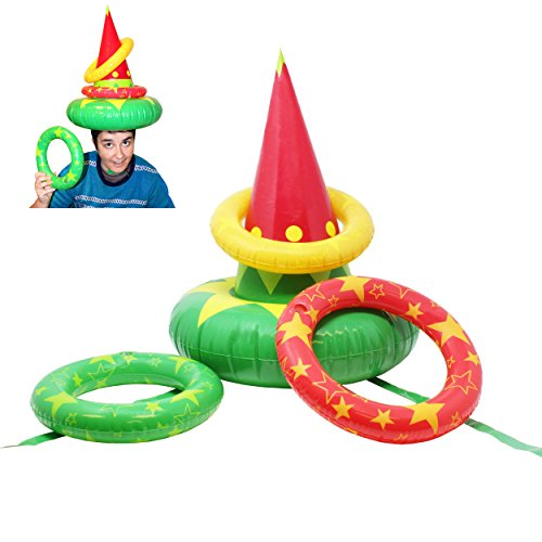 e94b05d5411c0 JOYIN Inflatable Elf Hat Christmas Ring Toss Game Set