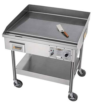 Accutemp EGF2083A4800-S2 Accu-Steam Griddle stand with casters electric 48