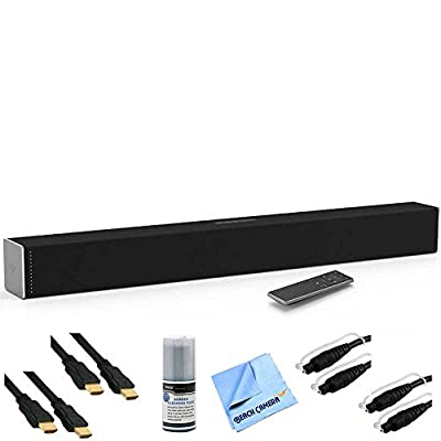 SB2920-C6 - 29-Inch 2.0 Soundbar with Bluetooth Plus Hook-Up Bundle. Includes Soundbar, 2 x 6ft Optical Toslink 5.0mm OD Audio Cable, 2 x 6 ft High Speed 3D Ready HDMI Cables, Performance TV/LCD Screen Cleaning Kit, and More