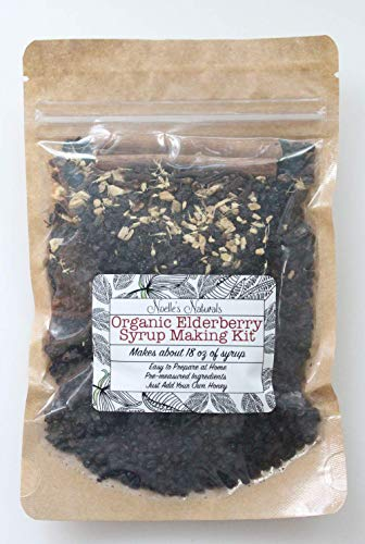 (Organic Elderberry Syrup Kit - Makes 18oz of Syrup - DIY - Natural Immune Support - Elderberries - Ginger - Cloves - Cinnamon Sticks - Organic Spices)
