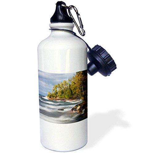 3dRose Danita Delimont - Lakes - Waves in Lake Superior, Pictured Rocks National Lakeshore, Michigan - 21 oz Sports Water Bottle (wb_279069_1) by 3dRose