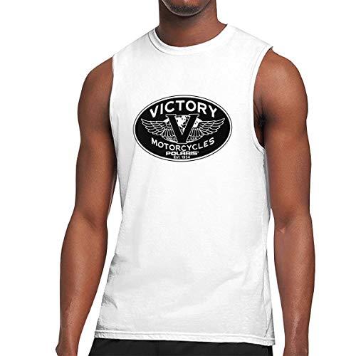 TIANXIN Customized Victory Motorcycles Polaris Logo Breathable 100% Cotton Sleeveless T Shirts for Men O-Neck XL White