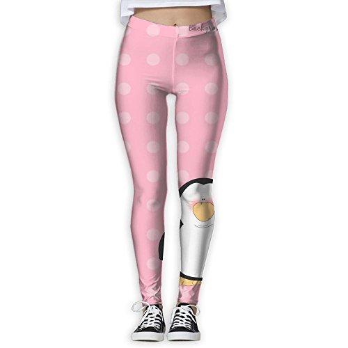MIULOP CMILC Women's High Waist Yoga Pants Cute Penguin Tummy Control Workout Running 4 Way Stretch Yoga Leggings