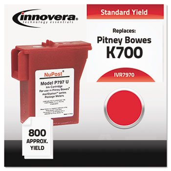 Innovera 7970 880 Page-Yield Remanufactured Cartridge with 797-0 Postage Meter, Red ()