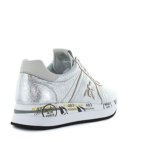 PREMIATA Scarpe da Donna Sneaker Conny 2981 Argento Primavera Estate 2018