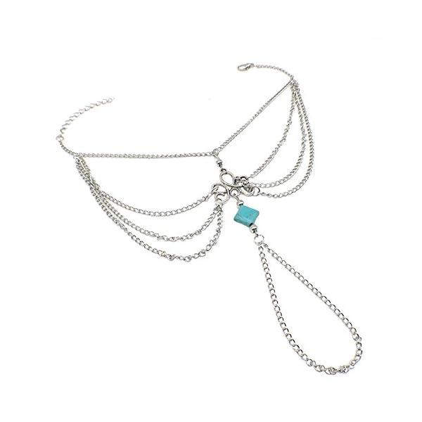 WeiMay 1 X Elegante multi-strato Nappa cavigliera catena donne braccialetto alla caviglia sandalo a piedi nudi piede… 1 spesavip