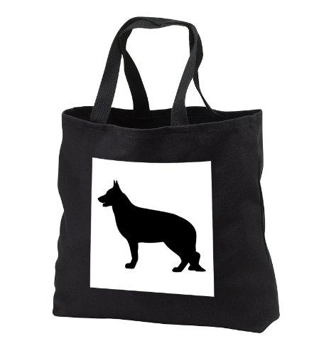 EvaDane - Animals - German Shepard Silhouette - Tote Bags - Black Tote Bag 14w x 14h x 3d (tb_149858_1)