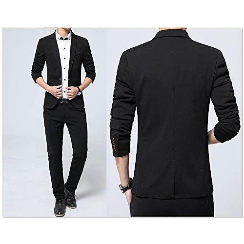 Blazer Fête Élégantes Costume De Dîner Kindoyo Taille Slim Homme Noir S Fit Smoking 5xl Vestes qWn55xzHa