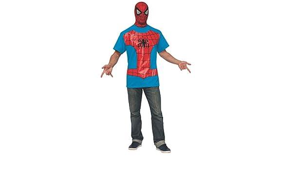 Kit disfraz de Spiderman Classic para hombre - XL: Amazon.es ...