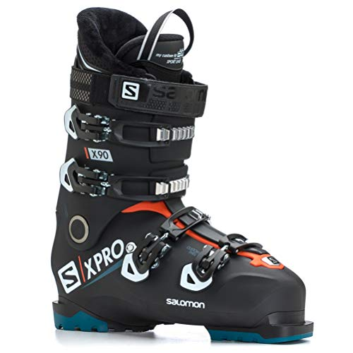 Salomon X-Pro X90 CS Ski Boots - 30.5/Black-White-Moroccan Blue