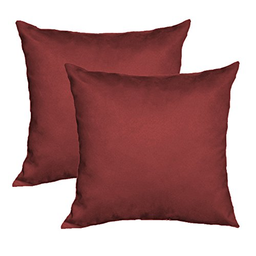 Burgundy Microfiber Throw Pillows : Cheap Microfiber Decorative Pillow Cover (Set of 2) Burgundy [Sofa Offer]