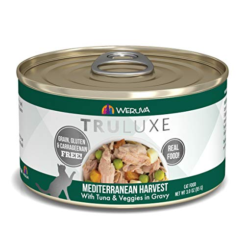 Weruva Truluxe Cat Food, Mediterranean Harvest With Tuna Whole Meat & Veggies In Gravy, 3Oz (Pack Of 24)