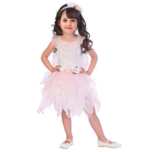 Baby Girls Toddler Pink Rose Fairy Springtime Prentend Play Costume 18-24m -