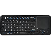 Rii 3 in 1 Mini i6 Bluetooth Keyboard + Touchpad + Remote Control (Black)