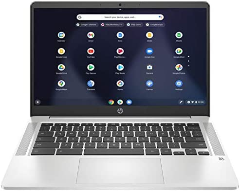 "HP Chromebook 14 14"" FHD Laptop Computer/ for Education or Student/ Intel Celeron N4000/ 4GB DDR4/ 32GB eMMC/ 11+ Hrs Battery/ Webcam/ Chrome OS/ Work from Home/ iPuzzle 64GB SD Card"
