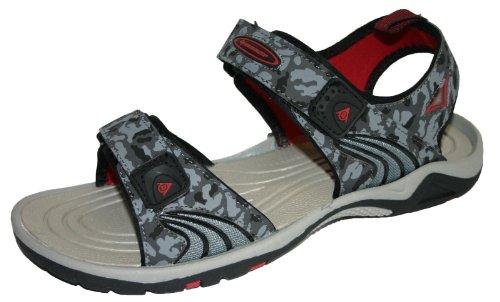 Beach Sports 7 Herren Trekking 12 Größen Wandern Tarnung Sandalen Dunlop Klettverschluss Graue für 5aRqwxCad