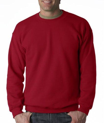 Gildan Men's Heavy Blend Crewneck Sweatshirt - XXXX-Large - Cardinal (Mens Cotton Crewneck Sweater)
