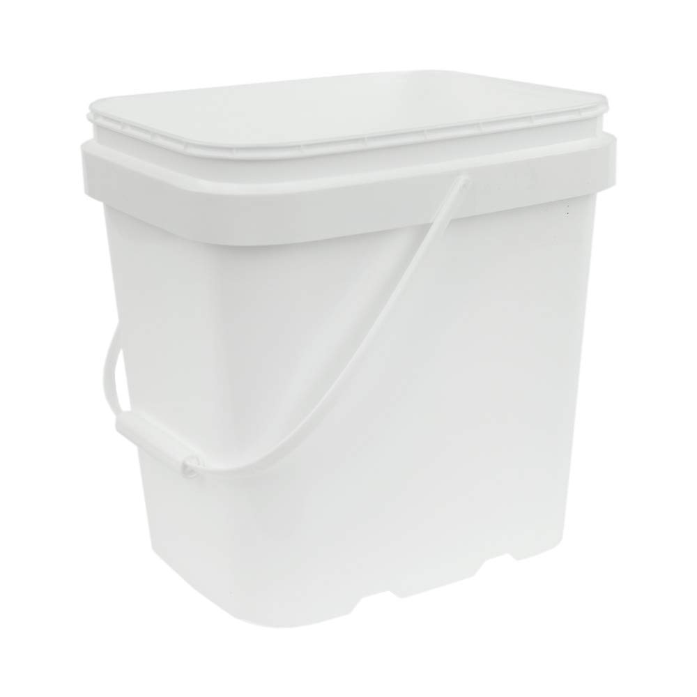 2 Gallon White EZ Stor Pail with Handle (Lids Sold Seperately)