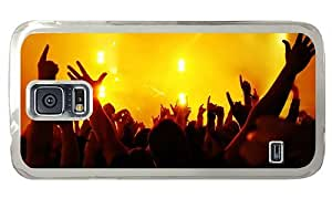 Hipster Samsung Galaxy S5 Case shop concert lights hands PC Transparent for Samsung S5