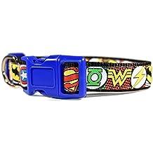 Dog collar, Large dog collar, Medium dog collar, Yellow dog collar, boy dog collar, Blue dog collar, Red Dog collar, Adjustable collar, Unique collar, Hero dog collar, Super Hero Pattern
