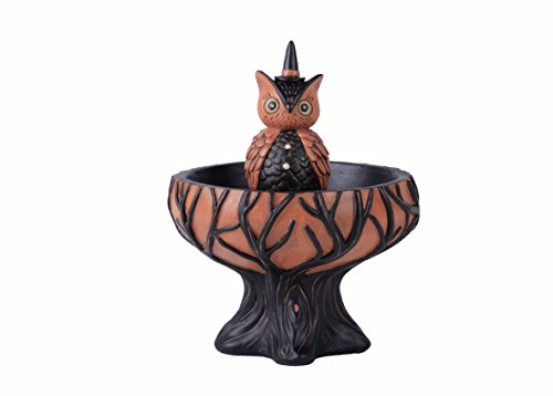 Vintage Retro Animal Halloween Candy Bowl Candy Dish On Stand Decoration (Owl)