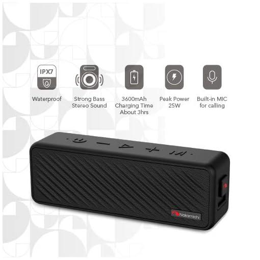 Nakamichi Speck IPX7 Waterproof Bluetooth Speaker