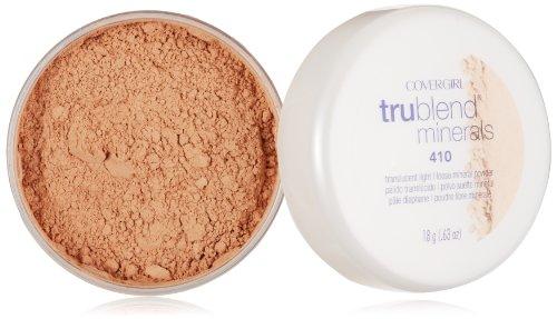 CoverGirl TruBlend Minerals poudre libre, lumière translucide 410, 0,63 onces