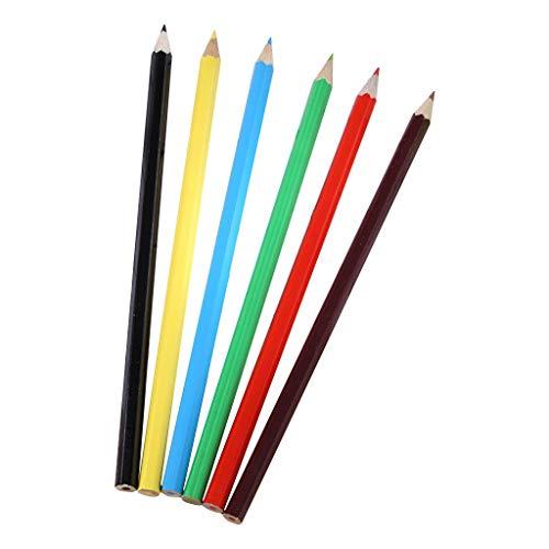 GSusan Kids lápices de colores - Caja de 6 unidades,de color intenso,Ideal para la escuela y la oficina