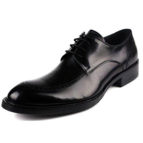 Marrone Scuro Il Vestito Uomo Oxford Wingtip Pointy 43 Pack black Pelle SYYAN q81wO7