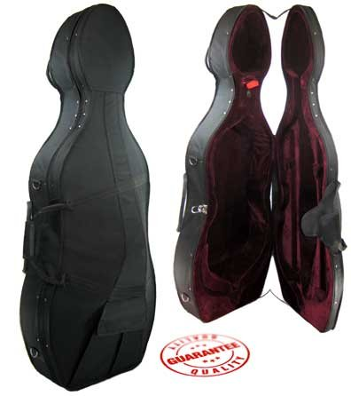 D'Luca Featherweight Cello Protective Hard Case 1/4