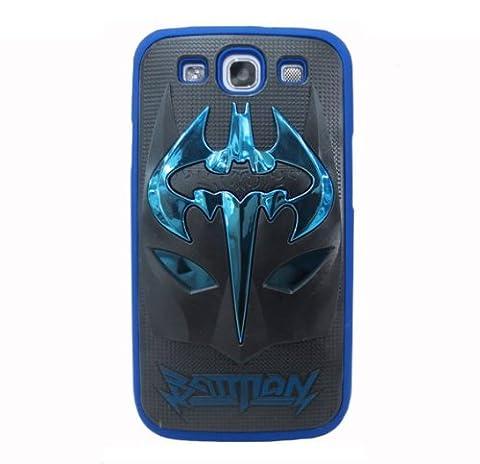 HJX Blue/Black S III i9300 Lovely 3D Batman Mask Inspiration Latest Trend Design Case Protector Cover for Samsung Galaxy S3 III (Rilakkuma Phone Case Galaxy S3)