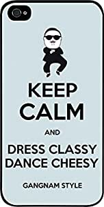 Keep Calm and Dress Classy Dance Cheesy-Blue-Hard Black Plastic Snap - On Case -Apple Iphone 5C ONLY- Great Quality!