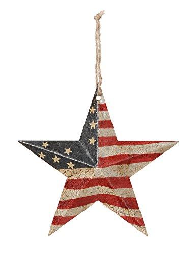 Star States Flag United - Darice 6563-86 Rustic Metal 3-D Star United States Flag, 5.75