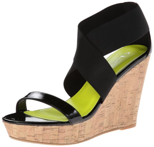 Cl De Chinese Laundry Mujeres Idelle Patent-gor Wedge Sandal Black