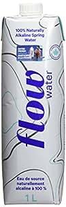 Flow Alkaline Spring Water - Eco-friendly packaging - (Pack of 6 x 1L)