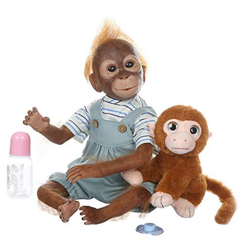 KUKALE Newborn Doll 50cm Realistic Reborn Soft Silicone Babies Monkey Lifelike Toy Kids Birthday Gifts