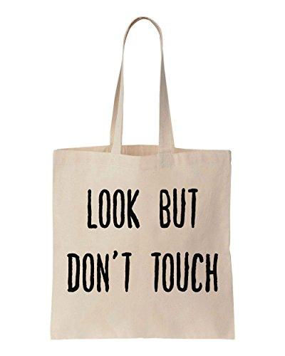 Look But Don't Touch Sacchetto di cotone tela di canapa