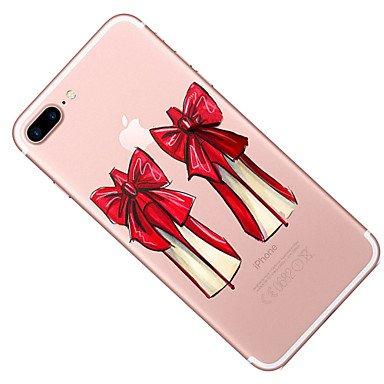 Fundas y estuches para teléfonos móviles, Para el iphone de la manzana 7 7 más los patrones de los altos talones de la cubierta del caso pintaron la alta caja suave material del ( Modelos Compatibles  IPhone X