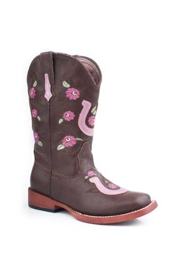 Roper Girl's Lucky U Boot, brown, 12 M US Little Kid by Roper