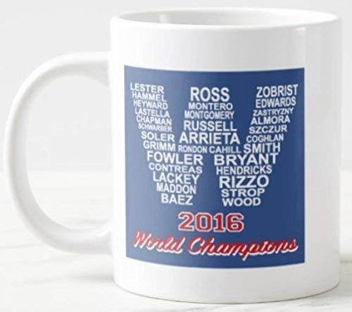 - Cubs Players Names in W, World Series Mug - Funny Mug, Christmas, Valentines, Birthday, Anniversary, Holiday, White Ceramic Coffee Mugs