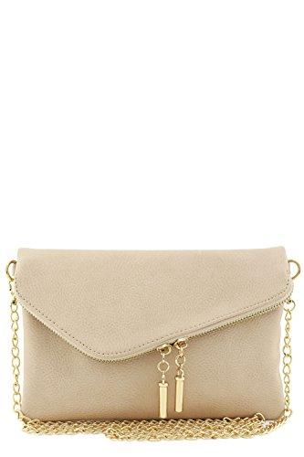 Envelope Wristlet Clutch Crossbody Bag with Chain Strap ()