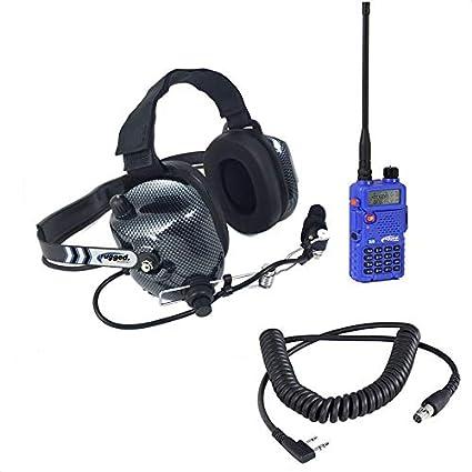 Rugged Radios VHF/UHF Dual Band RH-5R 5 Watt Two Way Handheld Radio and  Headset Crew Chief/Spotter Package