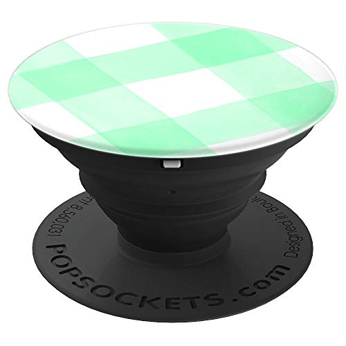 Buffalo Plaid Gingham Check Pop Socket - PopSockets Grip and Stand for Phones and Tablets ()