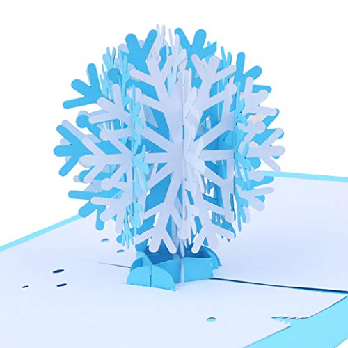 cici store 3D Pop Up Snowflake Greeting Card Christmas Card Valentine's Day Mother's Day Birthday Card]()