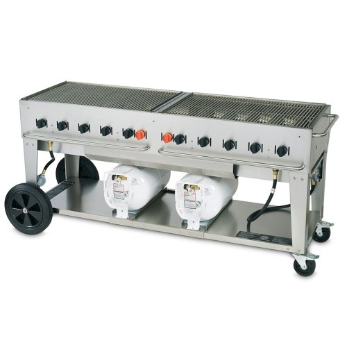 Crown Verity CCB-72 Outdoor Club Grill with 2 Horizontal Propane Tanks - 72