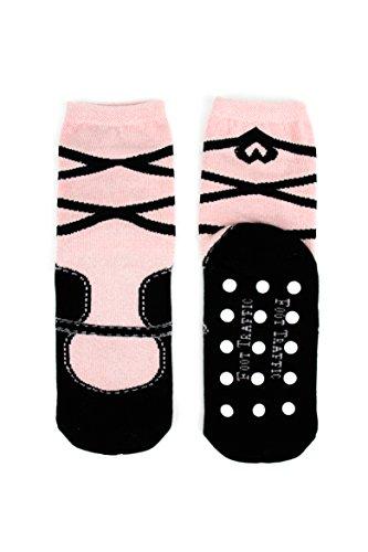 Foot Traffic, Womens Slipper Socks, Cozy Non-Slip Comfort, Ballet (Sizes 4-10)