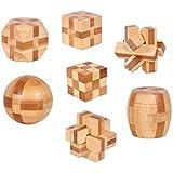 木製 組木パズル 立体 おもちゃ 7個セット 子供向け ミニ 4.5cmサイズ [並行輸入品]