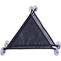 Yitaocity 2Pcs Reptile Hammock Loungers & Ladder Breathable Mesh, Triangular Hanging Net for Large & Small Bearded…